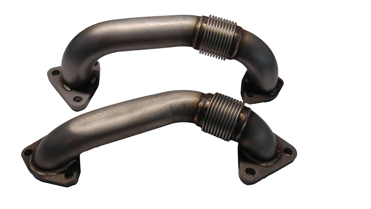 High Flow Exhaust Manifolds w/ Up Pipes For 01-04 LB7 Duramax