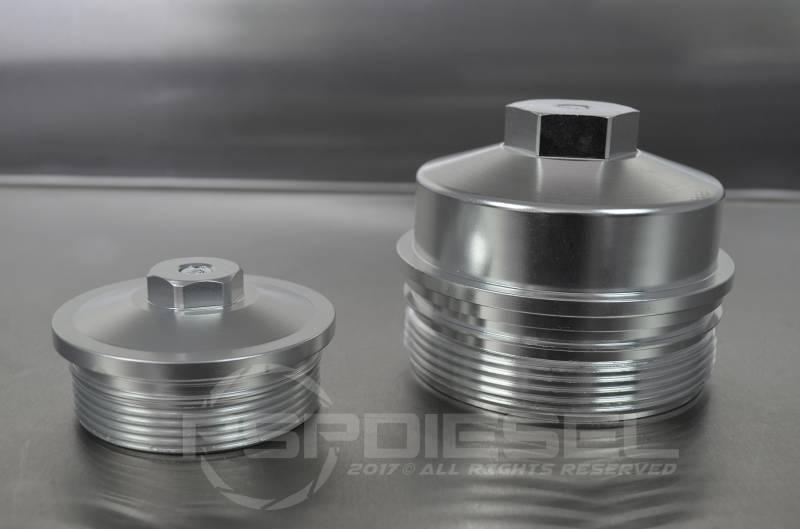 psp diesel - psp billet oil & fuel filter caps for 03-07 6 0 powerstroke