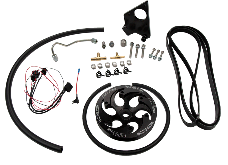 WCFab Twin CP3 Kit Black Anodized Pulley For 01-04 LB7 Duramax