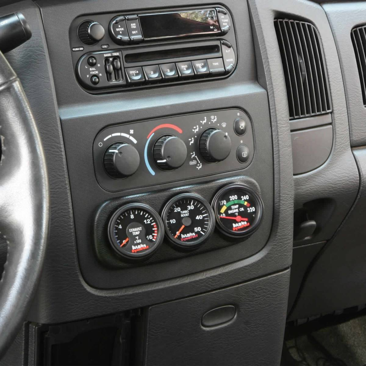 Banks Power Dash Mount Gauge Pod 3 Gauge 2003-2005 Dodge ...