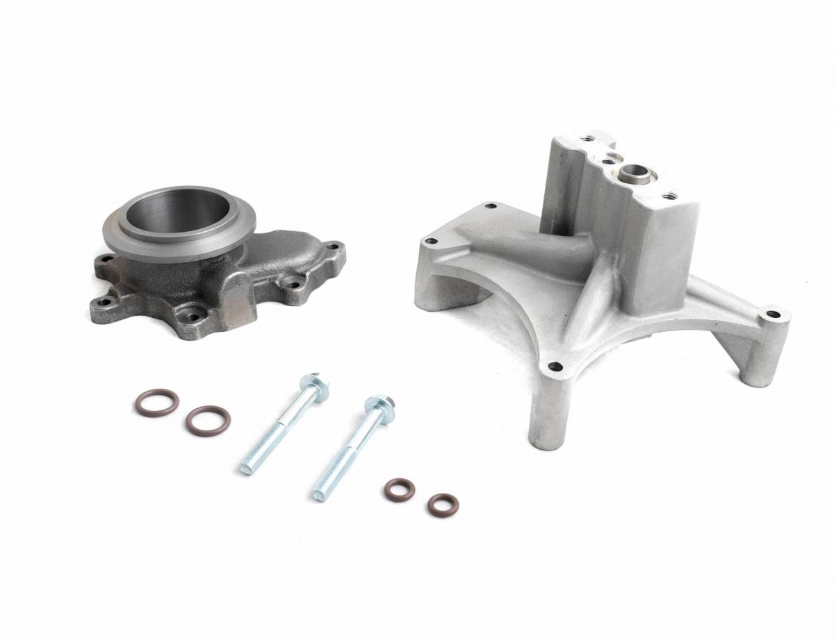 Turbo Pedestal Kit High Flow Turbo Pedestal Non EBP Valve Compatible with 1999-2003 Ford 7.3L Powerstroke