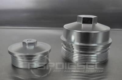 psp billet oil  u0026 fuel filter caps for 03 07 6 0 powerstroke