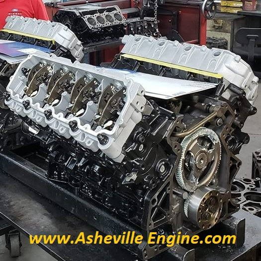 "Asheville Engine - Asheville Engine Entry Level ""Plus"" Replacement Block w/ O-Ringed Cylinder Heads For 03-07 6.0 Powerstroke"